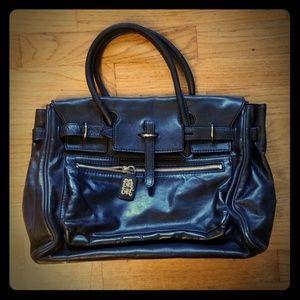 Leonello Borghi Black Leather Satchel 🖤